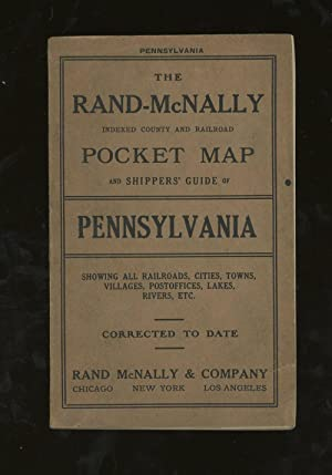 The Rand-McNally Indexed County and Railroad Pocket Map and Shippers' Guide of Pennsylvania, Show...
