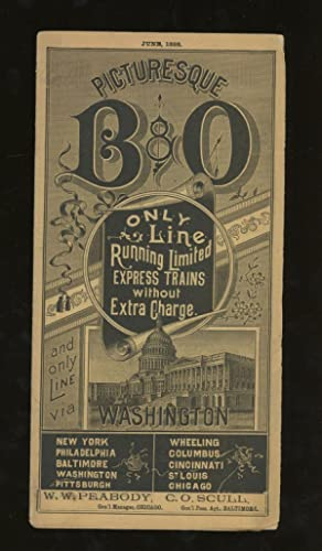 Picturesque B & O, Only Line Running Limited Express Trains Without Extra charge, and Only Line v...