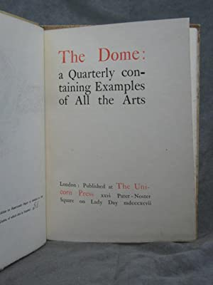 The Dome: a Quarterly containing Examples of All the Arts: Various; (Sandro Botticelli)