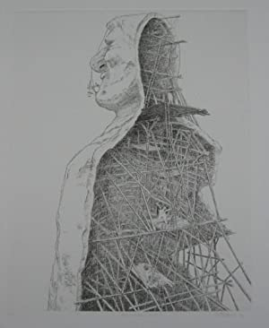 Patrick Oliphant, suite of Six Etchings: Mea Culpa, Billy The Kid, Second Time, Cell Phone, The ...
