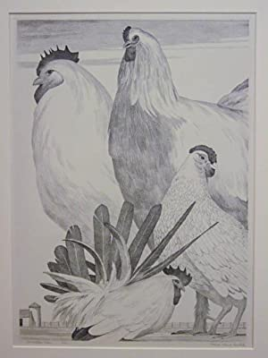 Conversation Piece. Original lithograph: Francis Adams Comstock