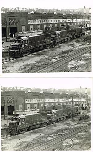 Four photographs of a P&LERR Trainyard by Pittsburgh photographer William Metzger: Metzger, ...