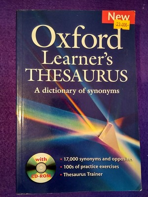 Oxford Learner's Thesaurus: A dictionary of synonyms (+cd)