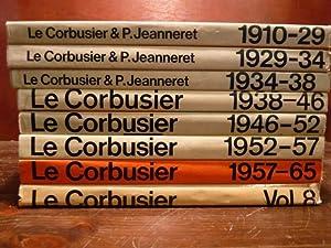 LE CORBUSIER OEUVRE COMPLETE 8 volumi: Willy Boesiger O. Stonorov Max Bill Le Corbusier PIERRE ...