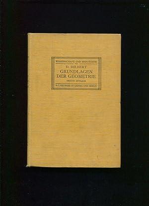 Grundlagen der Geometrie ;; Dritte, durch zusatze und literaturhinweise von neuem vermehrte und ...