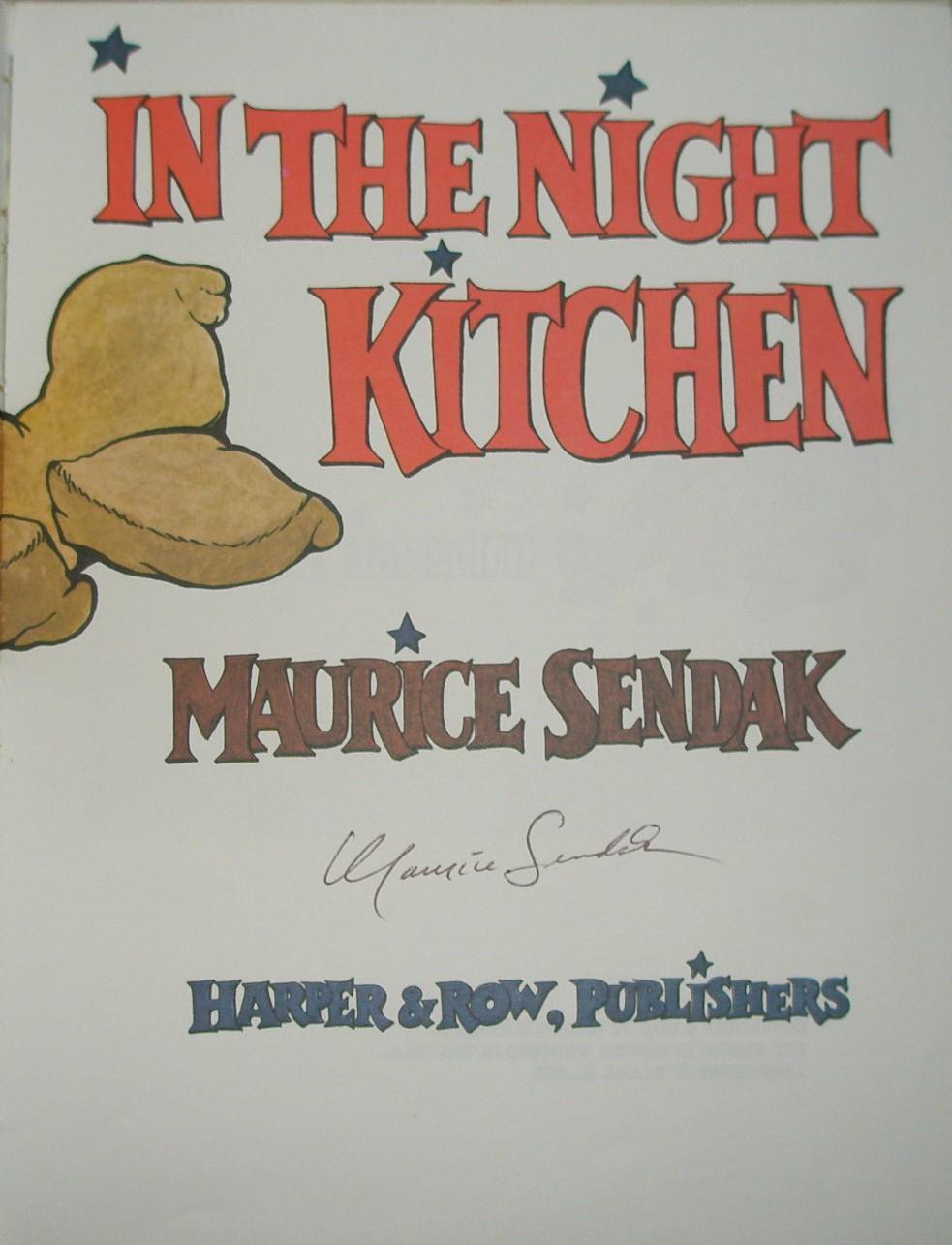 In the Night Kitchen by Sendak, Maurice: New York: Harper & Row Hard ...