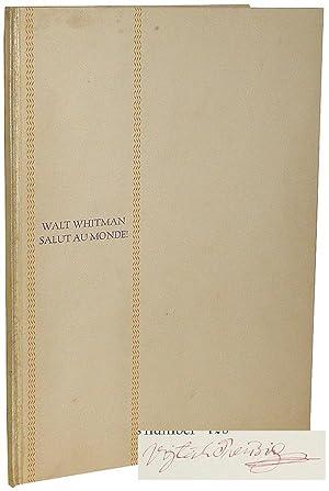 Salut au Monde!: Whitman, Walt