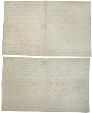 Autograph letter regarding the death of Lieutenant Fred George Carrie, with four hand-copied lett...