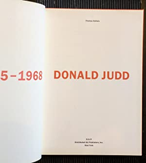 Donald Judd: The Early Works 1955-1968