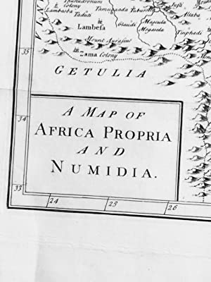 A Map of Africa Propria and Numidia