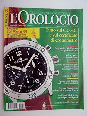 L'OROLOGIO DallaTecnica allo Stile Numero 34 Ottobre: AA.VV.
