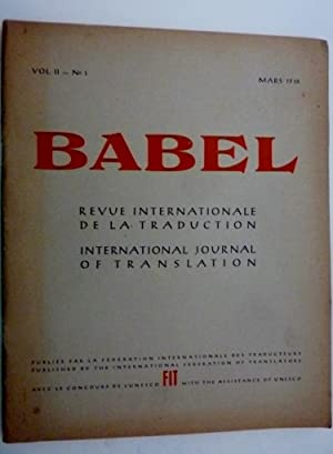 BABEL Revue Internationale de la Traduction -: AA.VV.