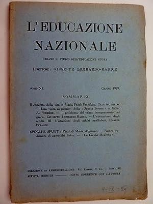 L'EDUCAZIONE NAZIONALE Organo di Studio dell'Educazione Nuova: AA.VV.
