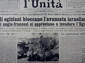 L'UNITA' Organo del Partito Comunista Italiano Edizione: AA.VV.
