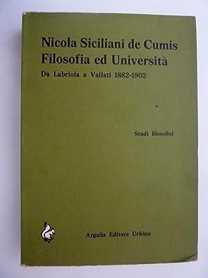 STUDI FILOSOFICI Da Labriola a Vailati 1882: Nicola Siciliani de