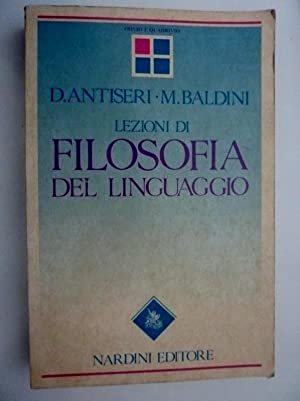 """LEZIONI DI FILOSOFIA DEL LINGUAGGIO"""": D. Antiseri -"""