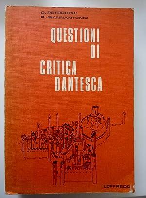 "QUESTIONI DI CRITICA DANTESCA"": G. Petrocchi -"
