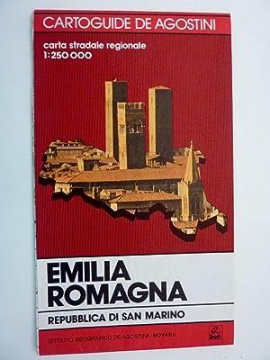 Cartoguide De Agostini CARTA STRADALE REGIONALE 1: 250.000 / GUIDA TURISTICA EMILIA ROMAGNA,...