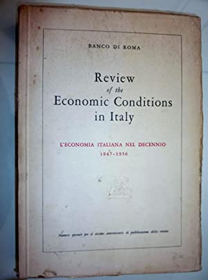 Review of the Economic Conditions in Italy.: AA.VV.