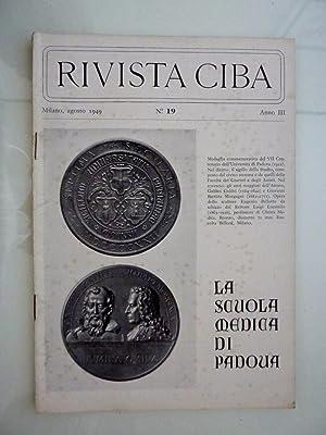 RIVISTA CIBA Milano, Agosto 1949 n.° 19: AA.VV.