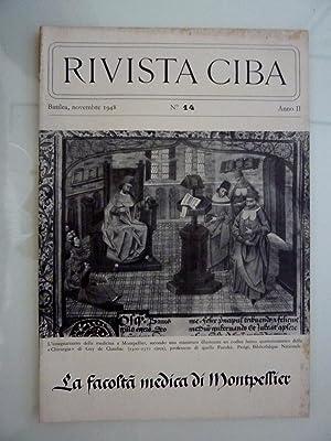 RIVISTA CIBA Basilea, Novembre 1948 n.° 14: AA.VV.