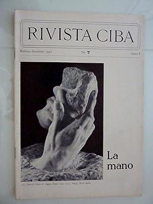 RIVISTA CIBA Basilea, Dicembre 1947 n.° 7: AA.VV.