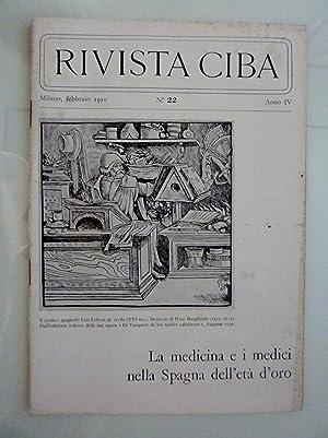 RIVISTA CIBA Milano,febbraio 1950 n.°22 - LA: AA.VV.