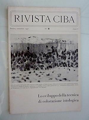 RIVISTA CIBA Basilea, settembre 1947 n.° 5: AA.VV.