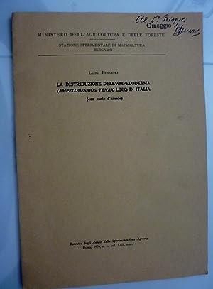 Ministero dell'Agricoltura e delle Foreste, Stazione Sperimentale: Luigi Fenaroli