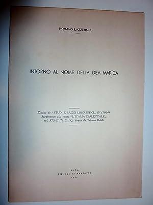 INTORNO ALLA DEA MARICA Estratto da STUDI: Romano Lazzeroni
