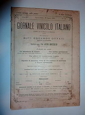 IL GIORNALE VINICOLO ITALIANO Direttore Dott. Edoardo: AA.VV.