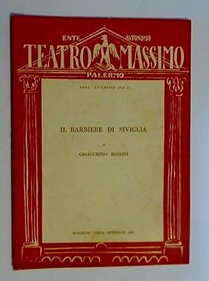 Ente Autonomo TEATRO MASSIMO PALERMO Stagione Lirica: AA.VV.