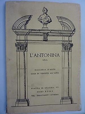 L'ANTONINA Srl GALLERIA D'ARTE, CASA DI VENDITA: AA.VV.