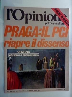 L'OPINIONE Anno I n.° 21, 29 Agosto: AA.VV.