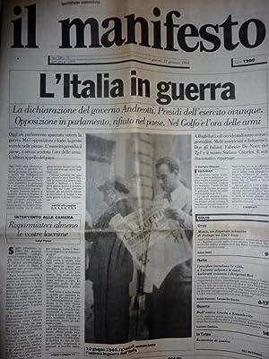 IL MANIFESTO Quotidiano Comunista Anno XXI n.°: AA.VV.