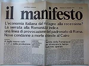 IL MANIFESTO Quotidiano Comunista - L'economia italiana: AA.VV.