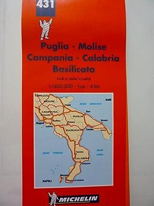431 PUGLIA, MOLISE, CAMPANIA, CALABRIA, BASILICATA Carta Stradale e Turistica: AA.VV.