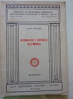 INFORMAZIONE E CONTROLLO DELL'IMPRESA: Luigi Selleri