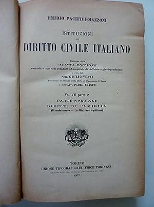 ISTITUZIONI DI DIRITTO CIVILE ITALIANO Quinta Edizione: Emidio Pacifici Mazzoni