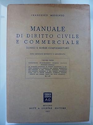 MANUALE DI DIRITTO CIVILE E COMMERCIALE (: Francesco Messineo
