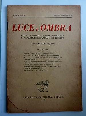 LUCE E OMBRA Rivista bimestrale di Studi: AA.VV.