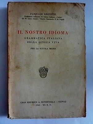 IL NOSTRO IDIOMA Grammatica Italiana della Lingua: Pasquale Leonetti