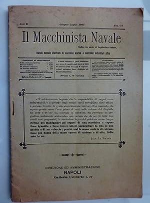 IL MACCHINISTA NAVALE Rivista mensile illustrata di: AA.VV.