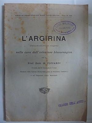 Estratto dal Giornale Italiano delle Malattie Veneree: Dott. Prof. G.