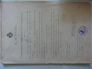 """Documento """"Regno d'Italia MINISTRO per Agricoltura, l'Industria: Anonimo"""
