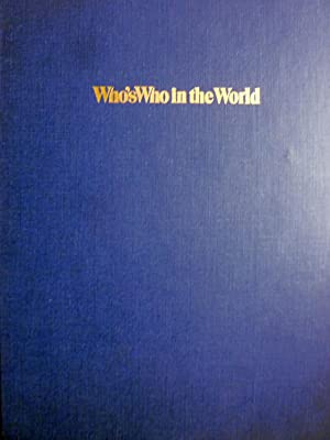 WHO'S WHO IN THE WORLD 6th edition 1982 - 1983