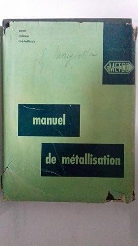 MANUEL DE METALISSATION METCO: H.S. Ingham -