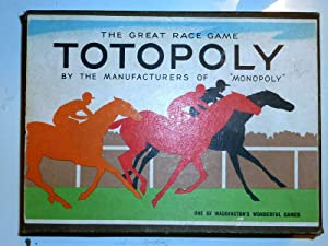 TOTOPOLY THE GREAT RACE GAME By the manifactures of