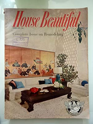 HOUSE BEAUTIFUL February 1956 Vol. 98 N.° 2 Complete Issue Remodeling