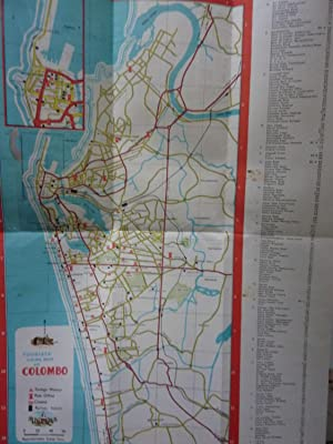 A TOURIST GUIDE MAP OF COLOMBO